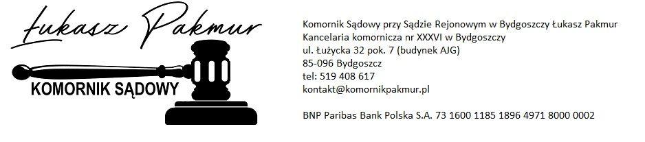 Komornik Sądowy Bydgoszcz – Łukasz Pakmur